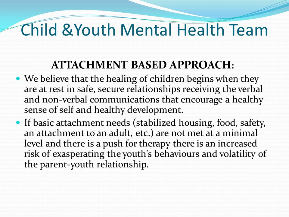 Child &Youth Mental Health Team