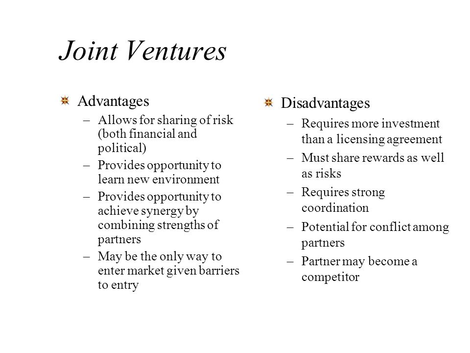 Asian Joint Venture Advantages - Asian-7484