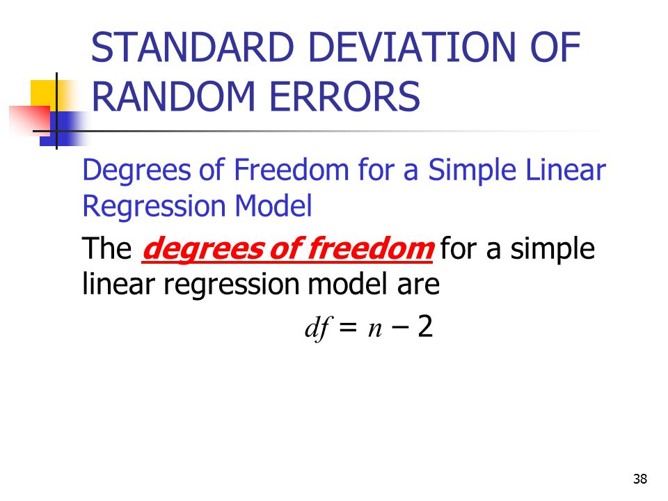 STANDARD DEVIATION OF RANDOM ERRORS