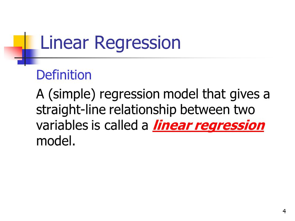 Linear Regression Definition