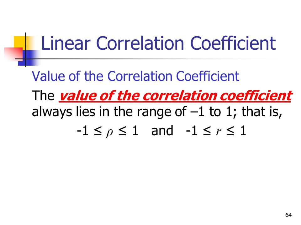 Linear Correlation Coefficient