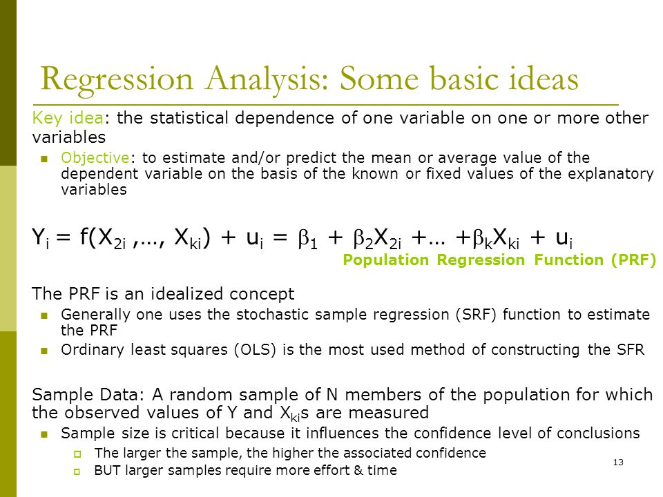 Regression Analysis: Some basic ideas