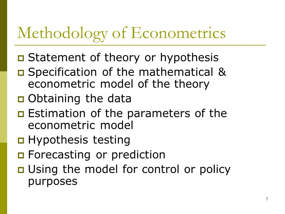 Methodology of Econometrics