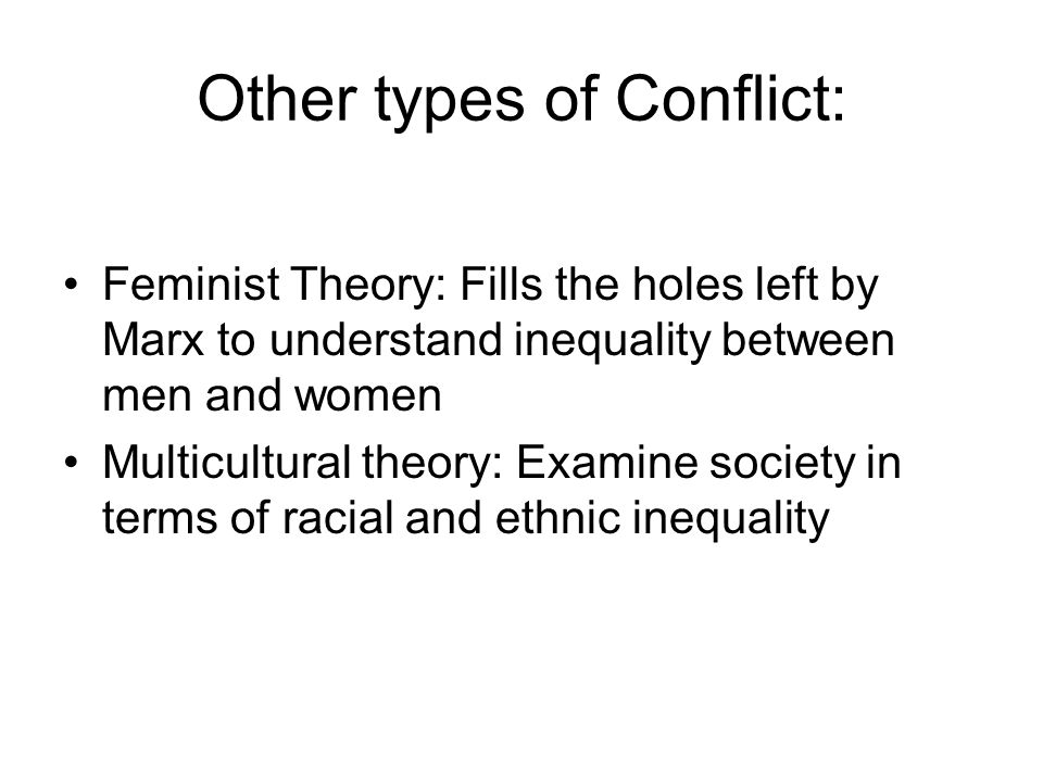 Other types of Conflict: