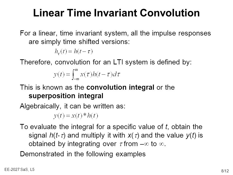 Linear Time Invariant Convolution