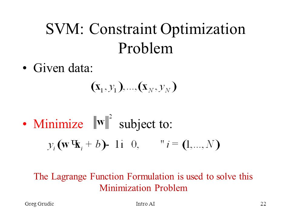 Support Vector Machine (SVM) Classification - ppt video online download