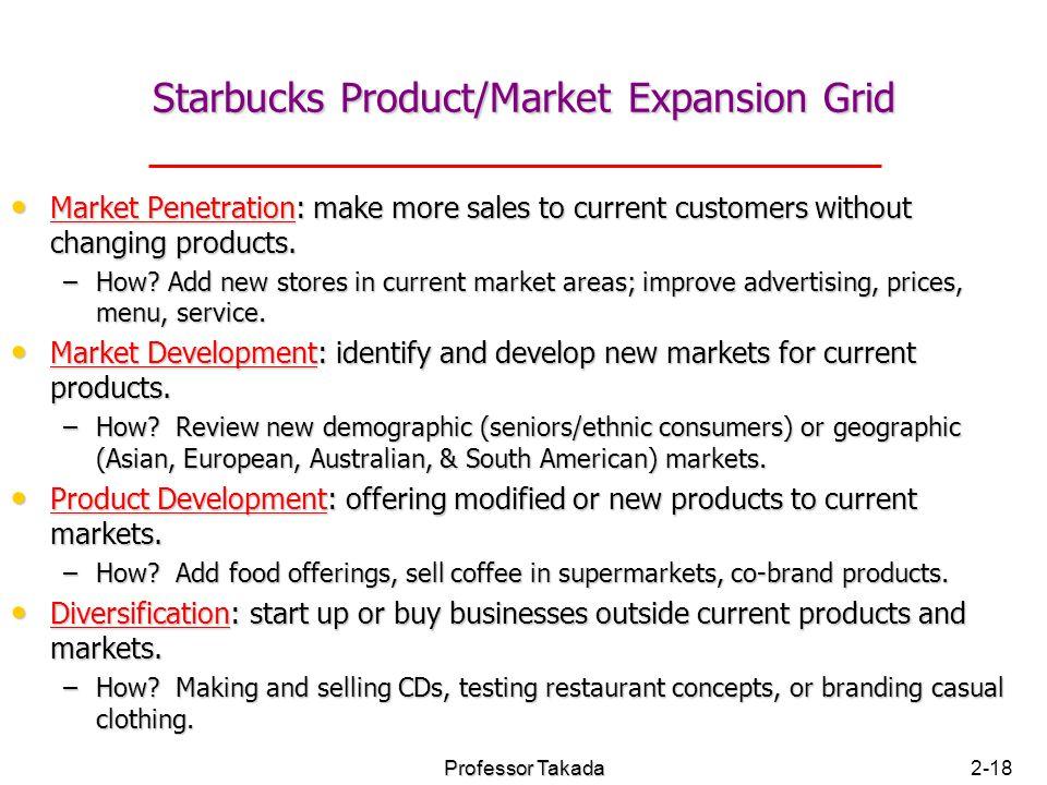 starbucks market development strategy