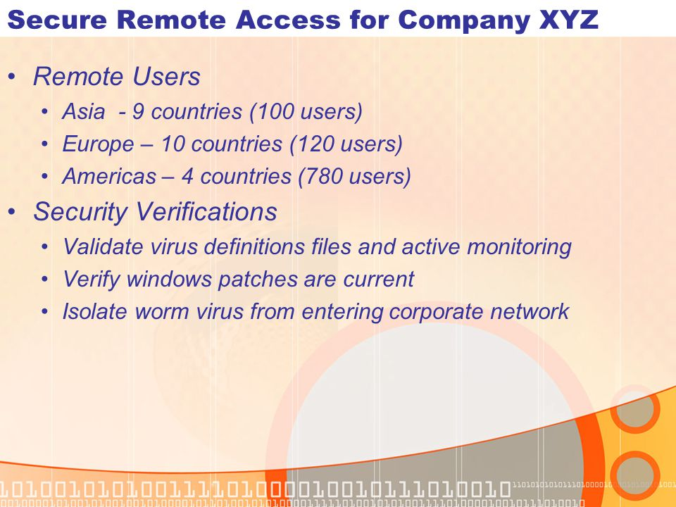 Secure Remote Access for Company XYZ