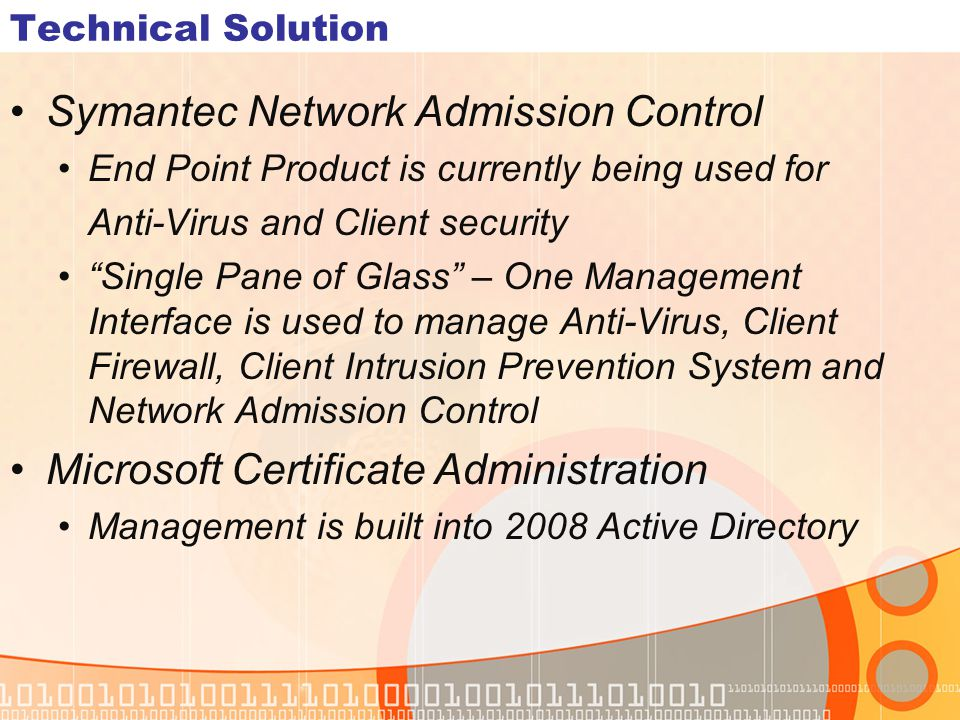 Symantec Network Admission Control
