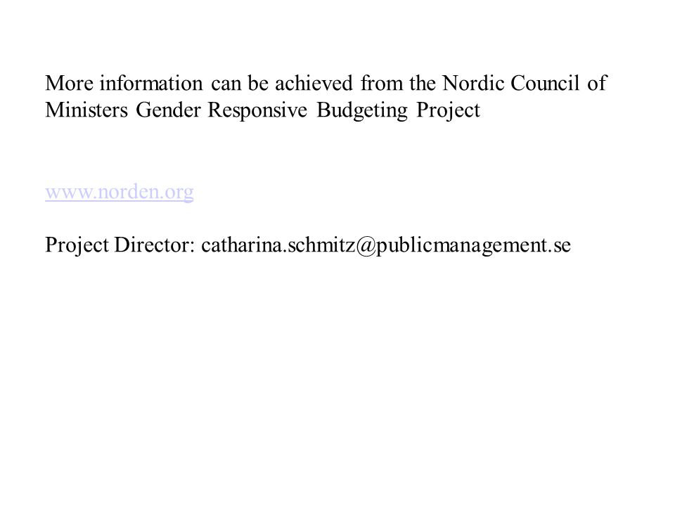 More information can be achieved from the Nordic Council of