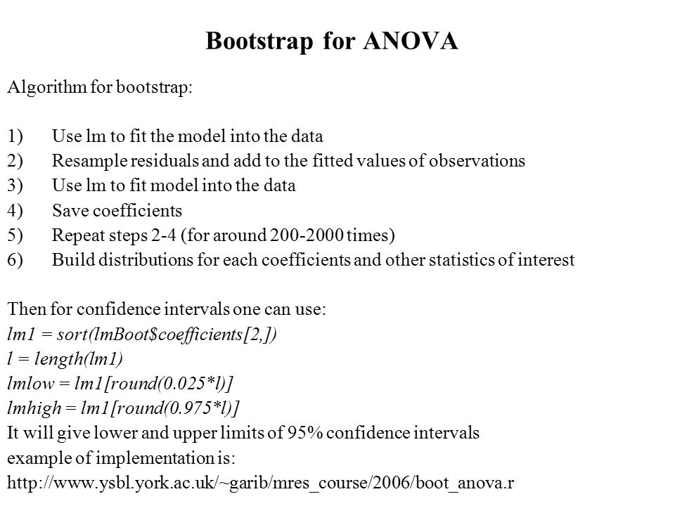 Design of experiment and ANOVA - ppt video online download
