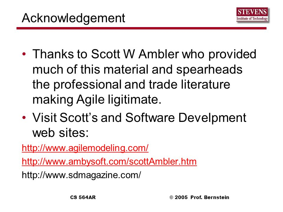 Visit Scott's and Software Develpment web sites: