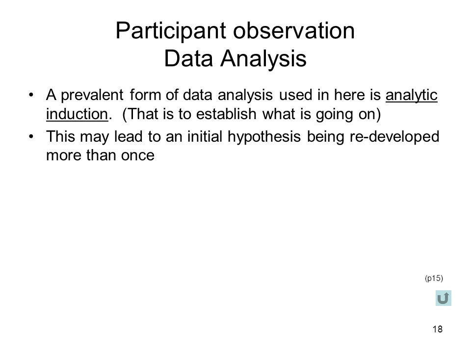 Participant observation Data Analysis