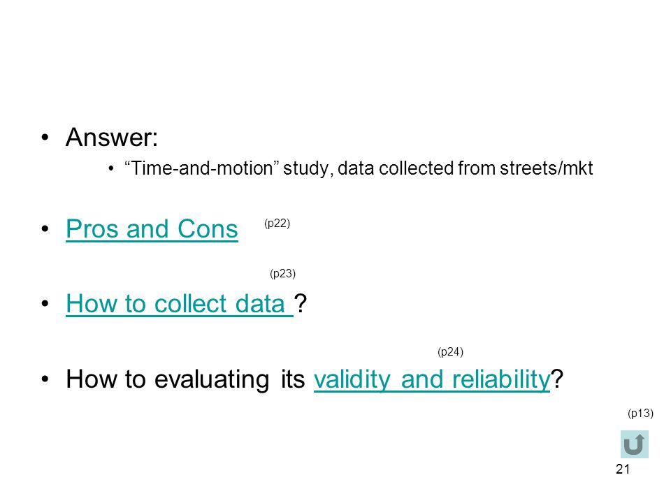 How to evaluating its validity and reliability