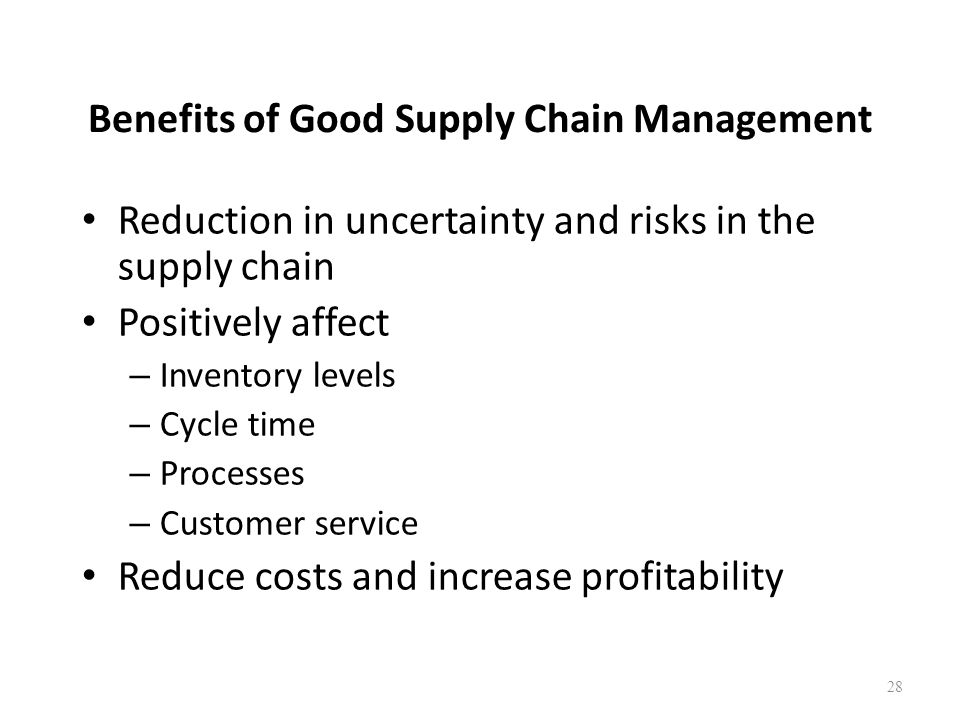 Benefits of Good Supply Chain Management