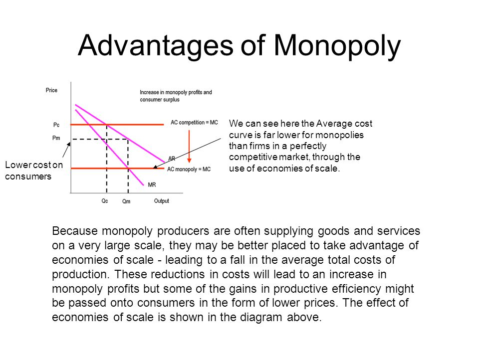 advantages of monopoly competition