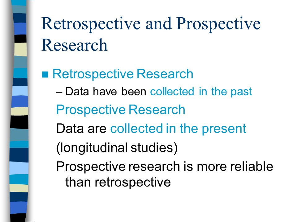 Retrospective and Prospective Research