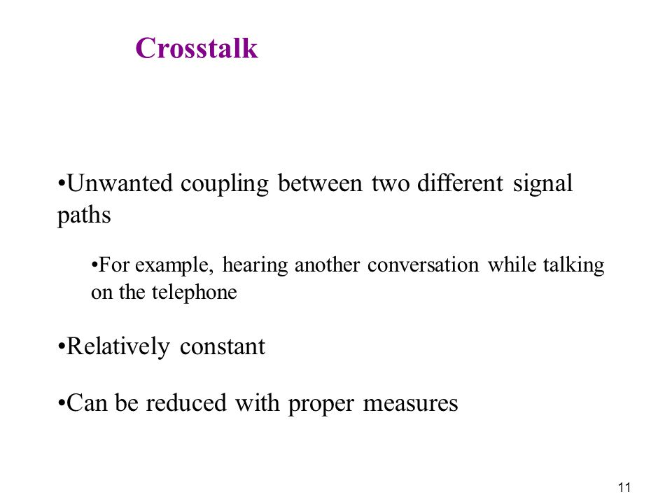 Unwanted coupling between two different signal paths