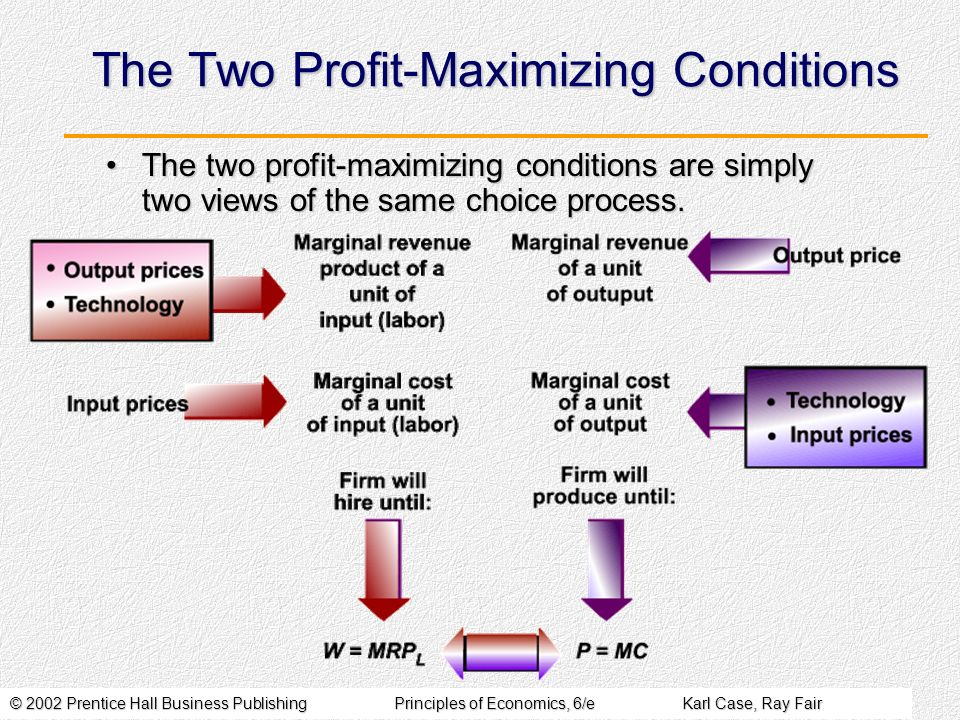 The Two Profit-Maximizing Conditions