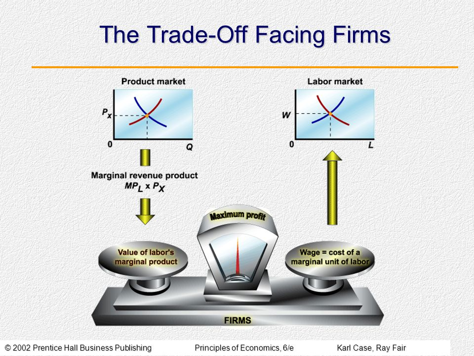 The Trade-Off Facing Firms