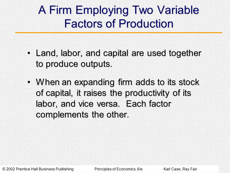 A Firm Employing Two Variable Factors of Production