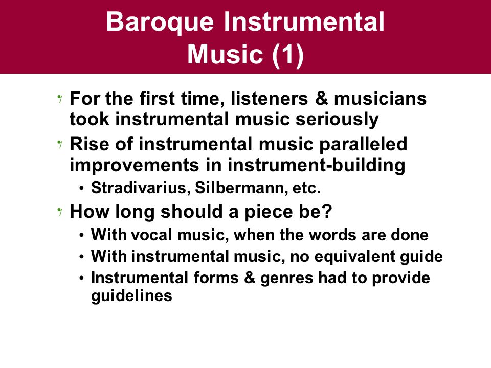 Baroque Instrumental Music (1)