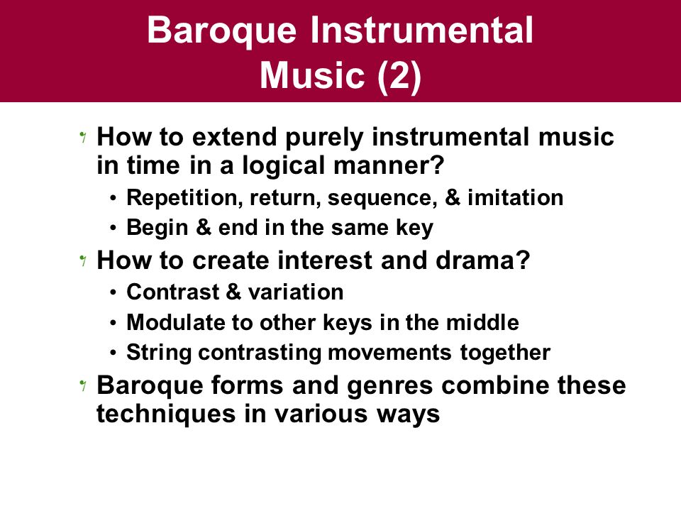 Baroque Instrumental Music (2)