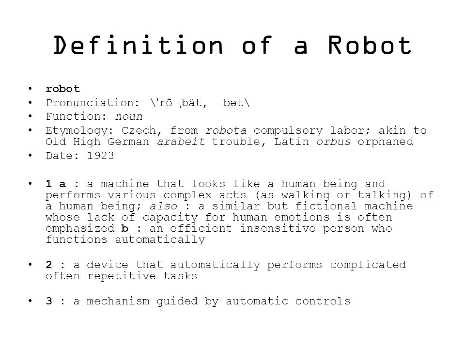 History Of Robotics Ppt Video Online Download