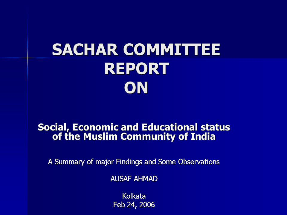 SACHAR COMMITTEE REPORT ON