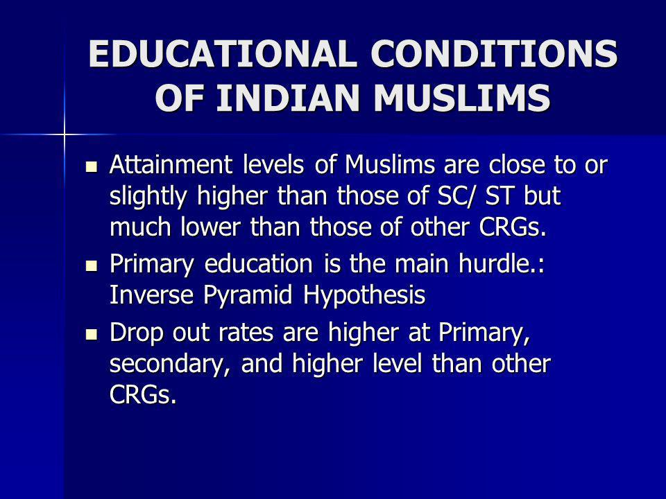 EDUCATIONAL CONDITIONS OF INDIAN MUSLIMS