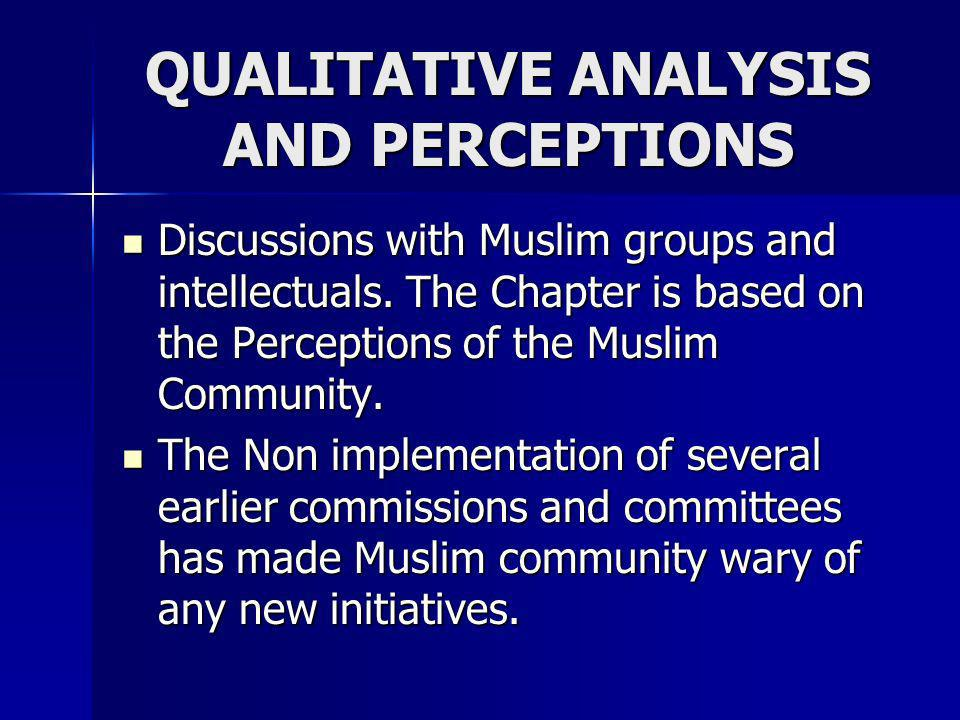 QUALITATIVE ANALYSIS AND PERCEPTIONS