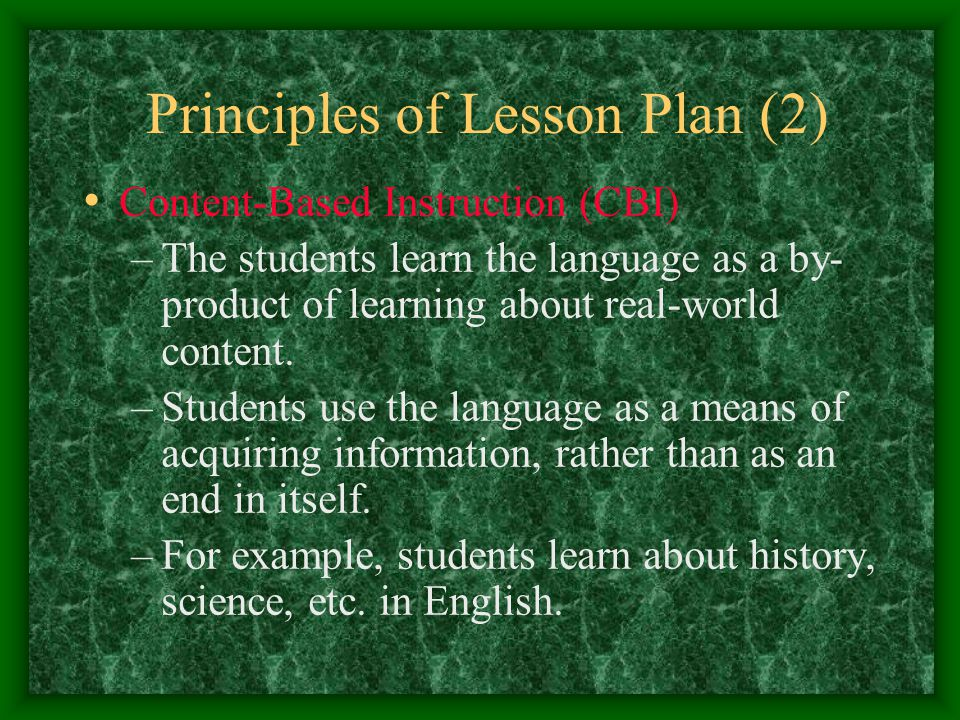 Principles of Lesson Plan (2)