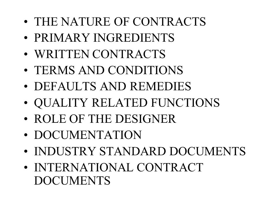 The construction contracts ppt video online download.