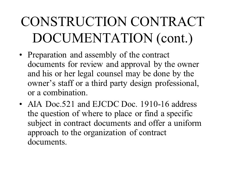 The construction contracts ppt video online download 27 construction contract documentation thecheapjerseys Choice Image