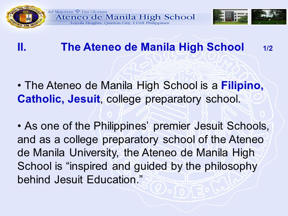 The Ateneo de Manila High School 1/2