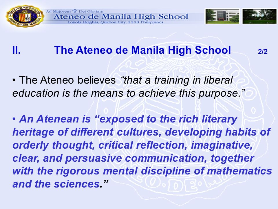 The Ateneo de Manila High School 2/2