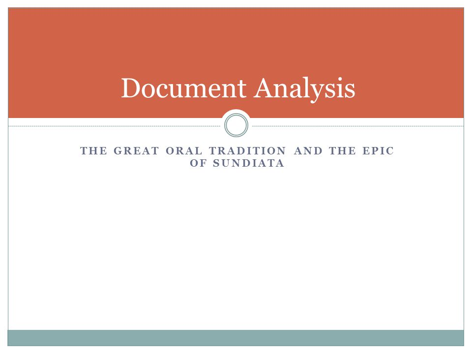 epic of sundiata analysis