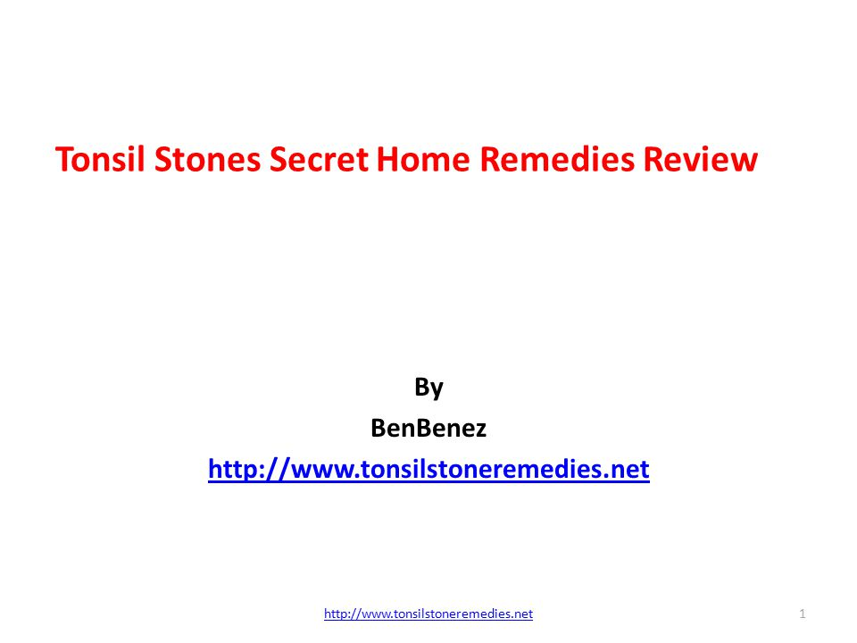 The Banish Tonsil Stones Ebook Today