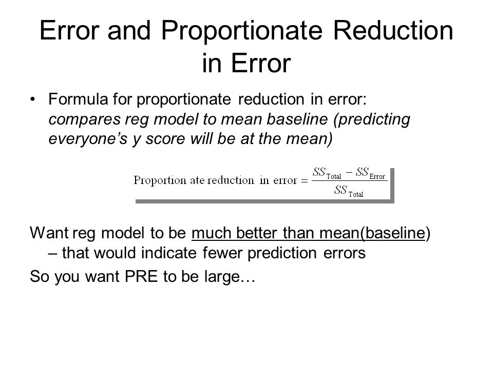 proportional reduction