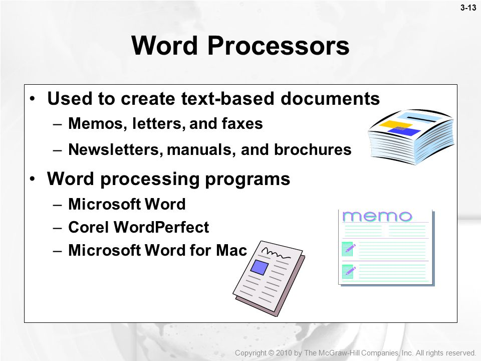 enter letters to make words basic application software ppt 21524 | Word Processors Used to create text based documents