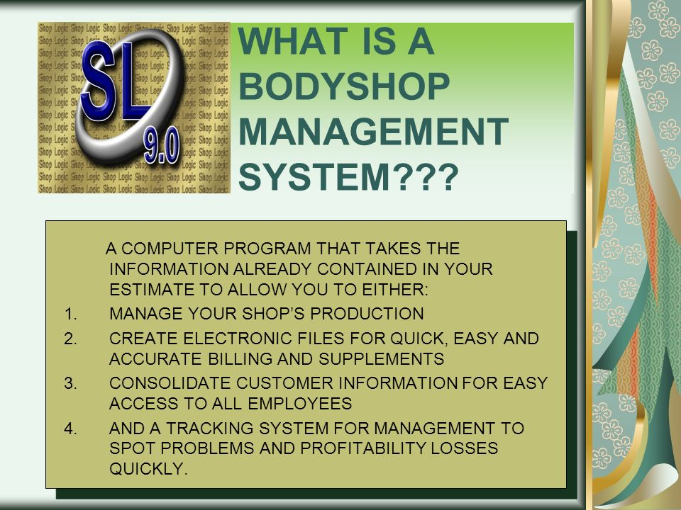 WHAT IS A BODYSHOP MANAGEMENT SYSTEM