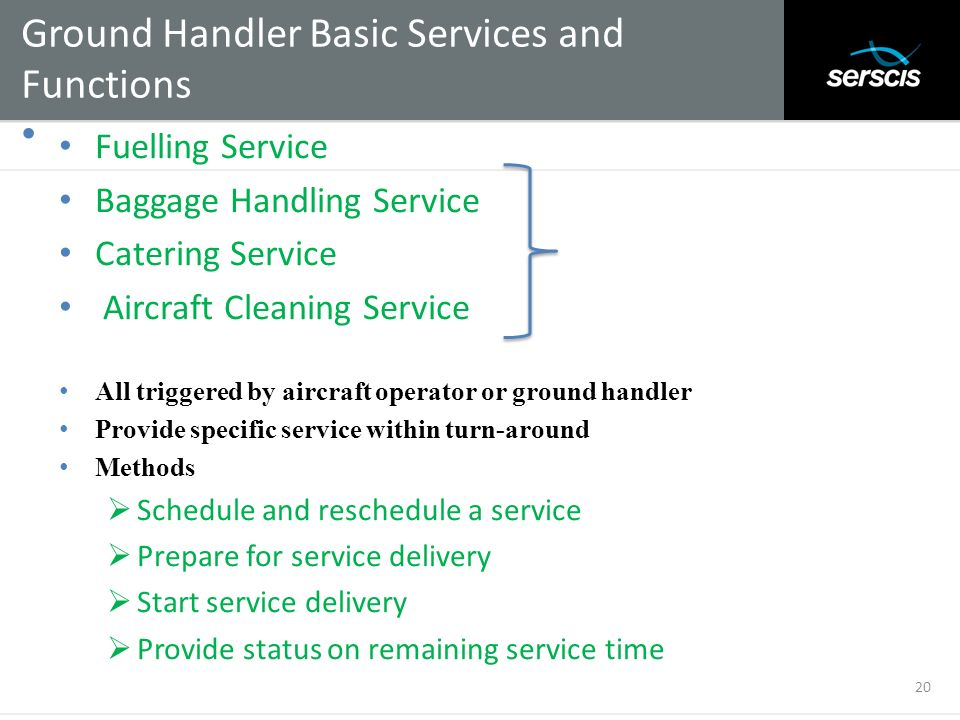Ground Handler Basic Services and Functions