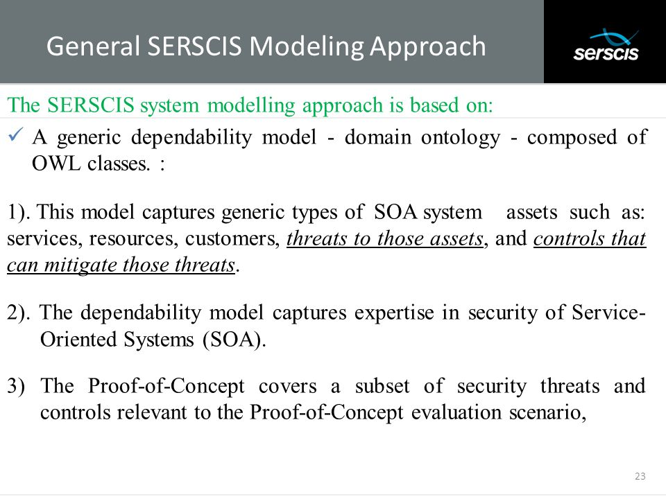 General SERSCIS Modeling Approach