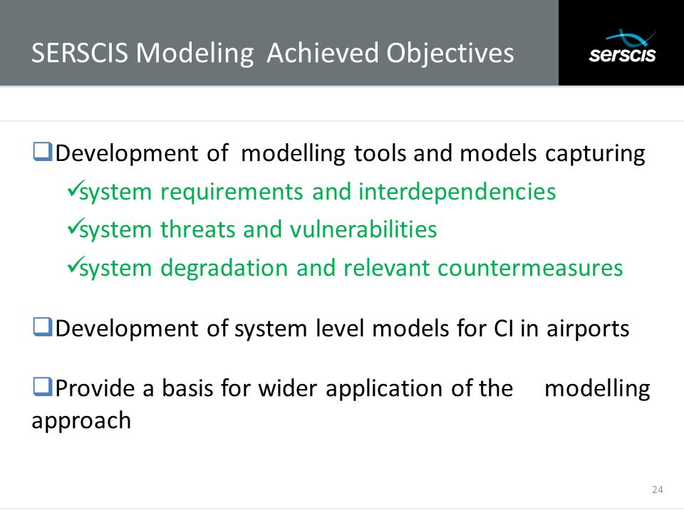 SERSCIS Modeling Achieved Objectives