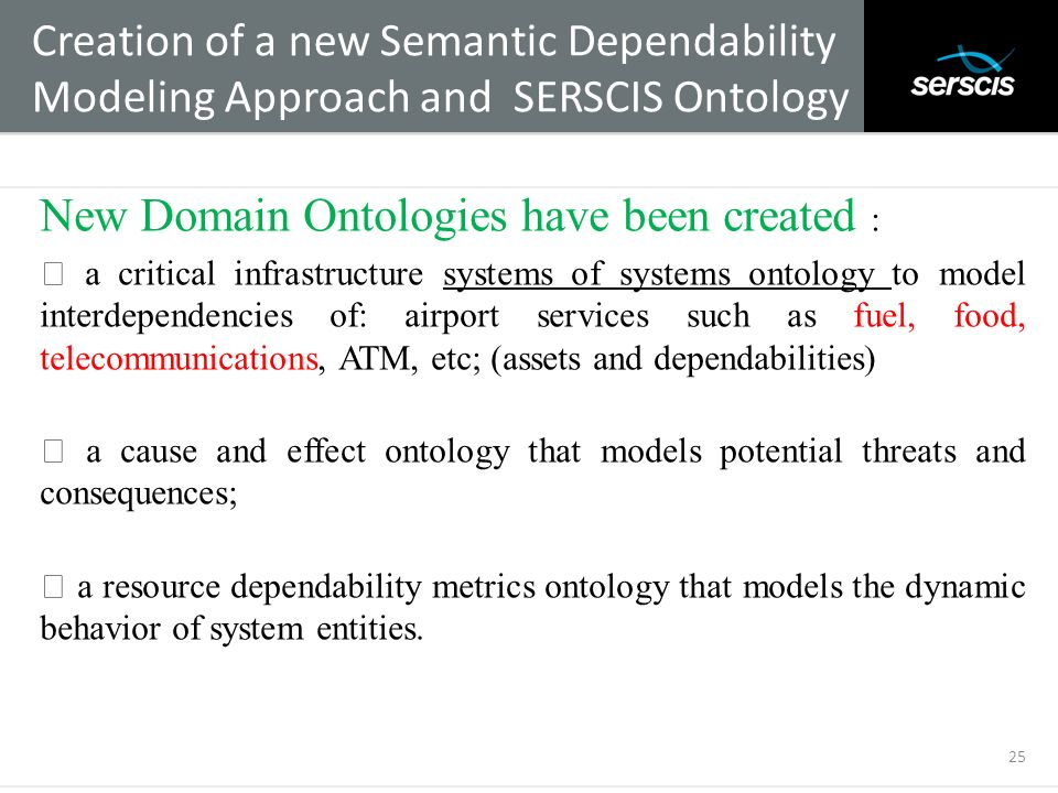 New Domain Ontologies have been created :
