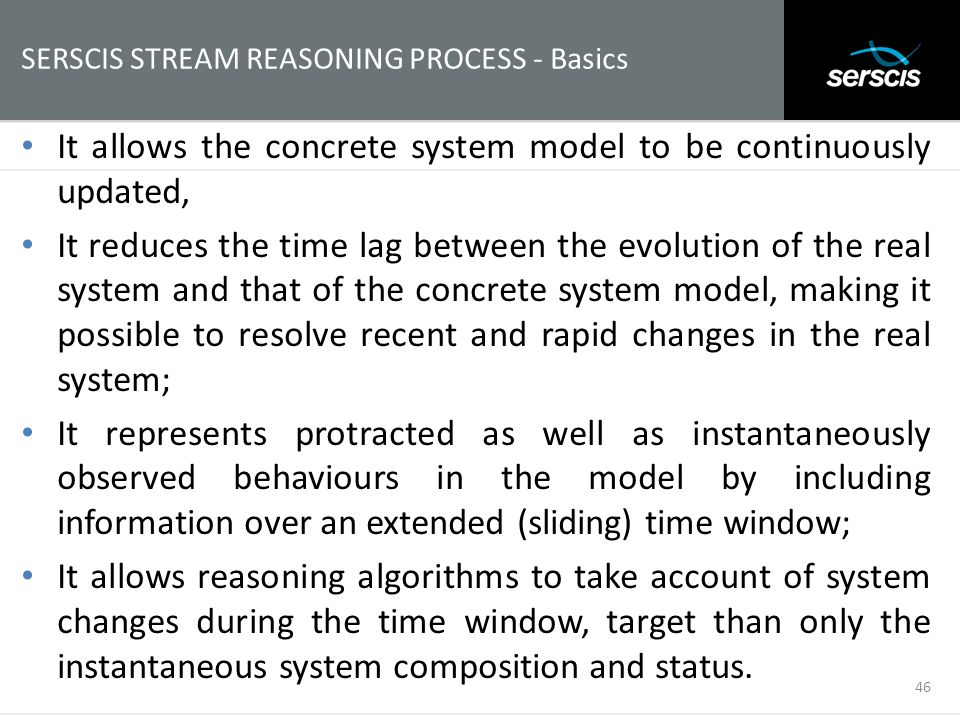 SERSCIS STREAM REASONING PROCESS - Basics