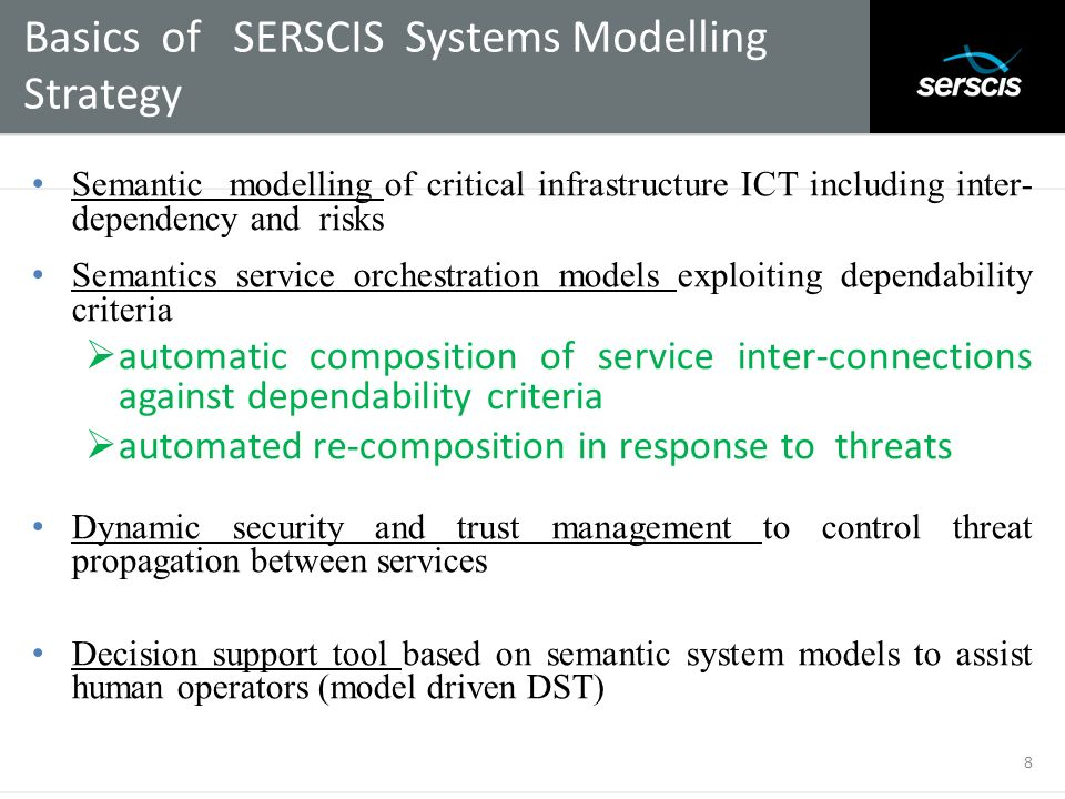 Basics of SERSCIS Systems Modelling Strategy