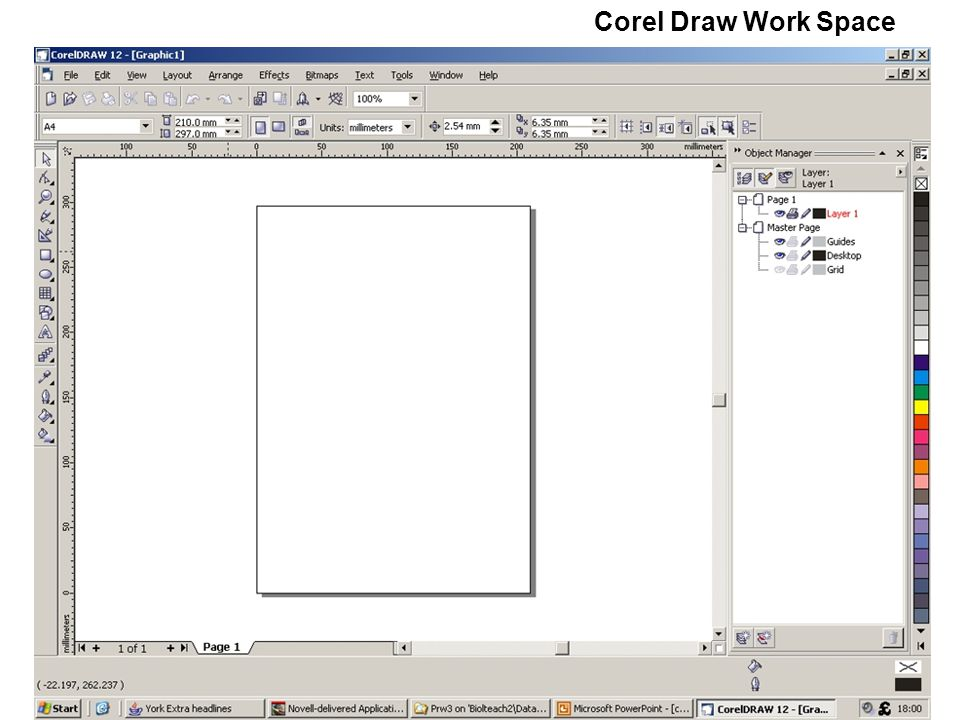 Corel Draw Work Space  - ppt download