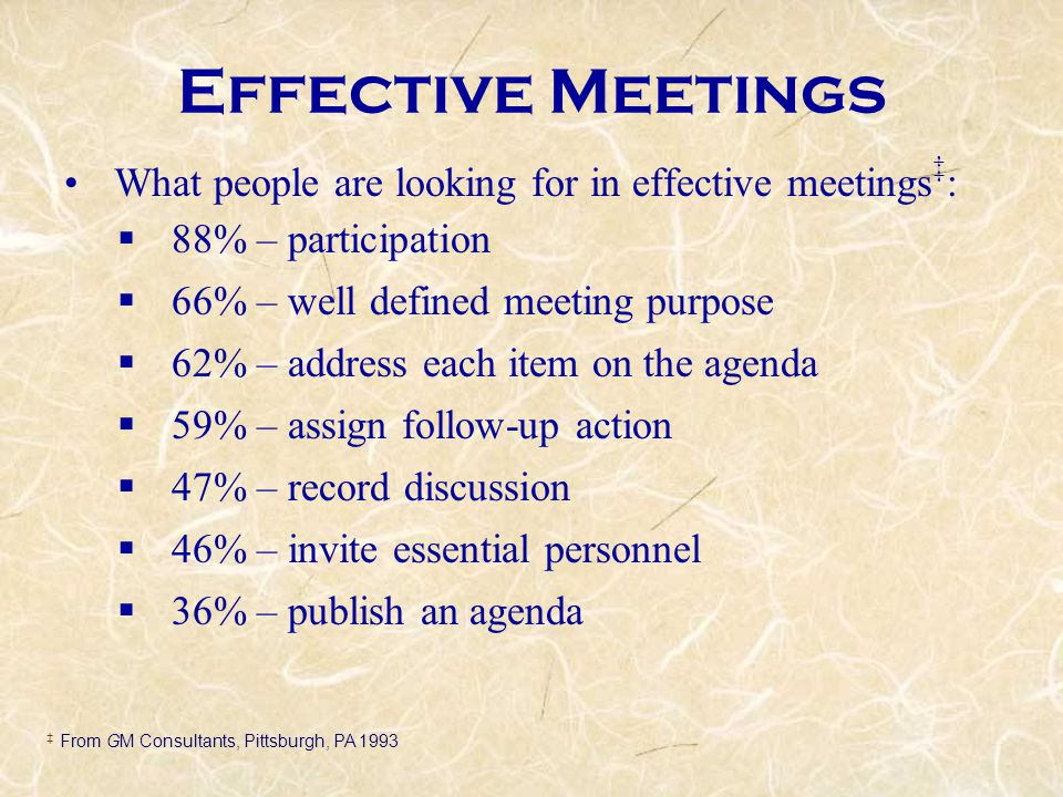 effective meetings solving the riddle