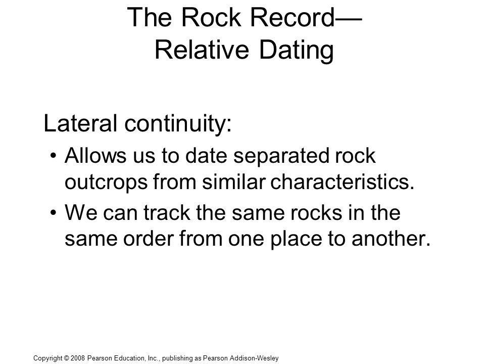 Relative dating characteristics